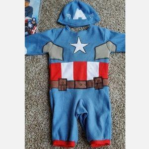 Rubie's Costumes - Baby's Marvel Captain America Romper 6-12 Months